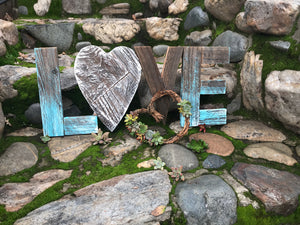 ***END OF TICKET SALES*** Valentine's Day Workshop: Succulent Heart Wreath & Rustic Wood LOVE Sign at Time & Space, Roseville, February 12