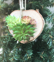 Load image into Gallery viewer, Artificial succulent wood ornament