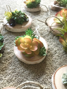 Artificial succulent wood ornament