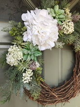 Load image into Gallery viewer, Artificial Succulent Holiday wreath