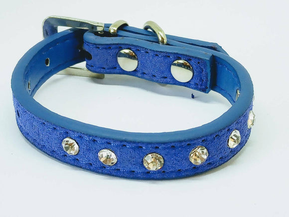 Diamante studded Dog collar for Chihuahua or Teacup Pomeranian  xxs