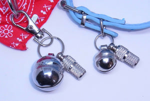 Quality Single Lahore Bell with ID Barrel Lobster Clasp for Dogs & Cats Collars