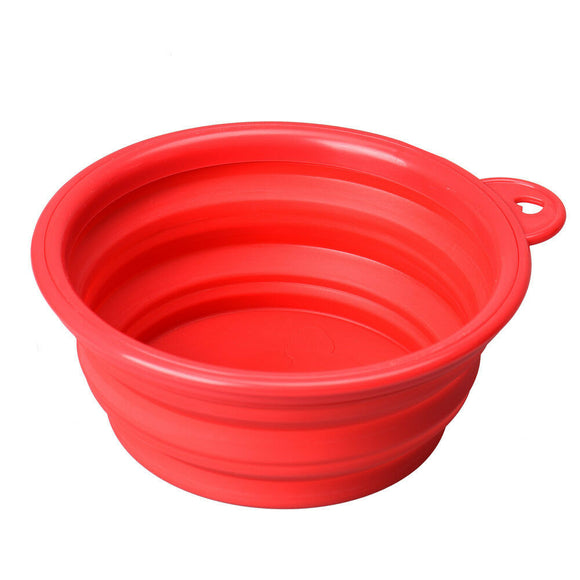 Dog travel bowl, water food pet, Silicone and  collapsible