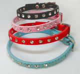 Cat Collar Diamante /Rhinestone Studded  Fits Neck size up to 27cm