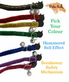 Cat collar genuine Breakaway collars sparkly colours