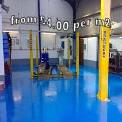 Tough epoxy floor paint for a garage or workshop environment. Durable Two pack long lasting epoxy paint