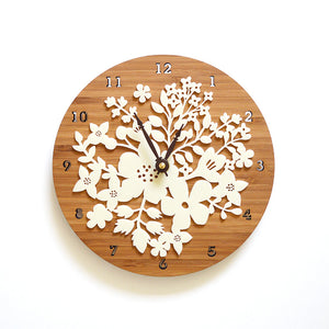 Lasercut flower wall clock