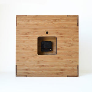 Modern Box Clock 12 inches