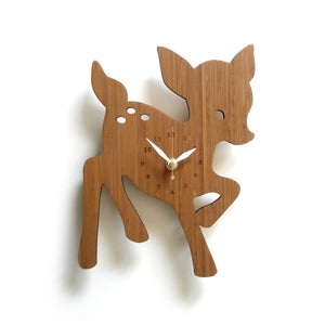 Bamboo Deer Wall Clock