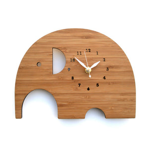 bamboo elephant clock large