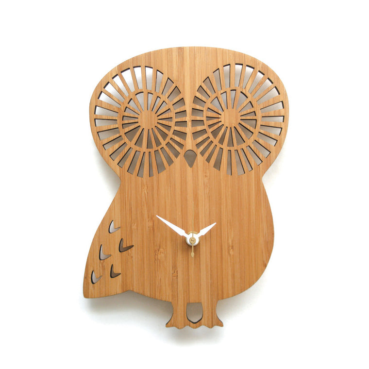Owl Wall Clock Large