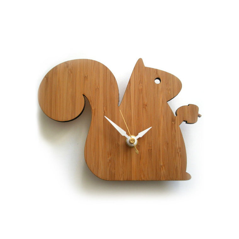 Squirrel Wall Clock Small