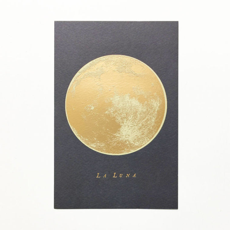 Full Moon Gold Foil Print