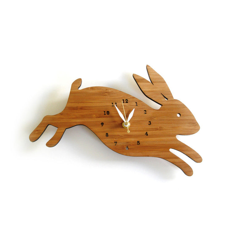 Leaping Rabbit Wall Clock