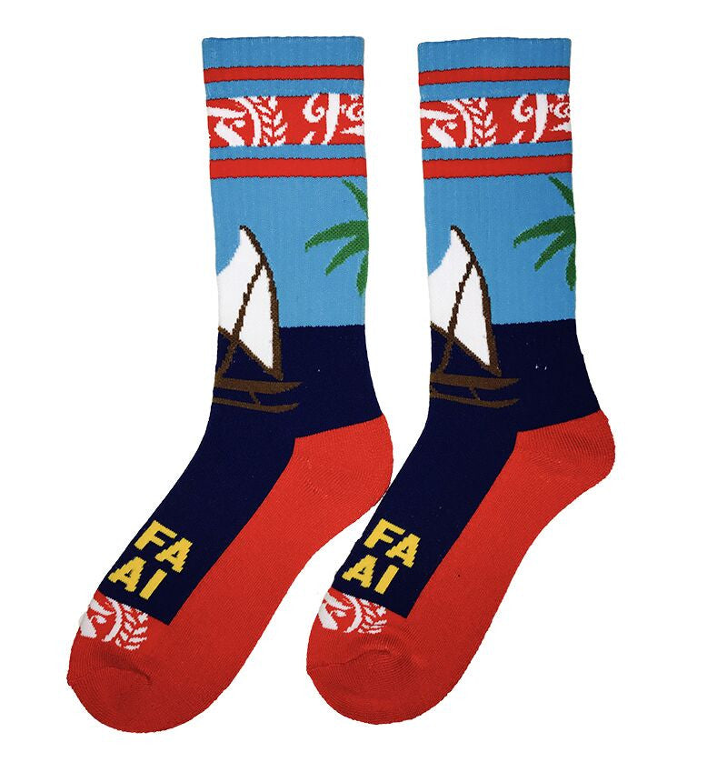 Hafa Adai Happy Guam Sock