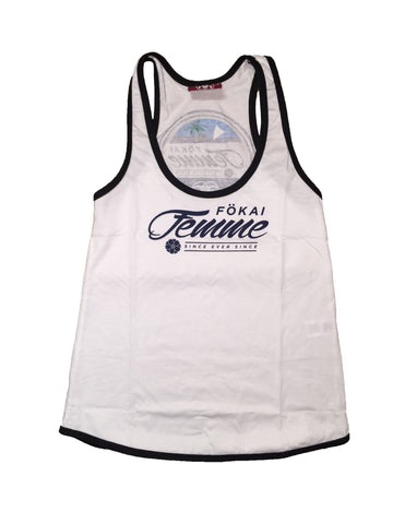 Fokai Femme Island Lifer Rear crested tank-white