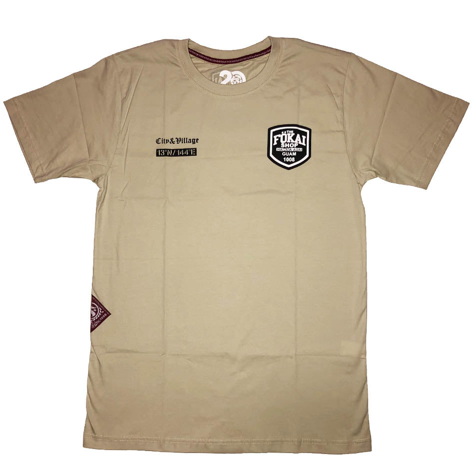 City and Village Mission Tee-beige