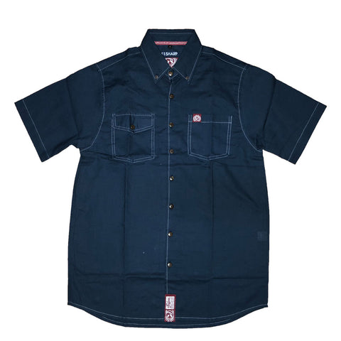 Contraflex Button Shirt-Navy