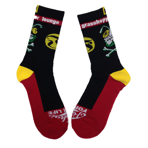 Grasshopper Lounge Socks - Black