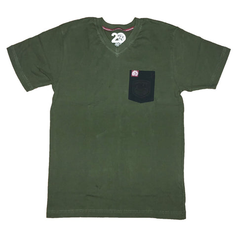 Green Shop Vneck Pocket