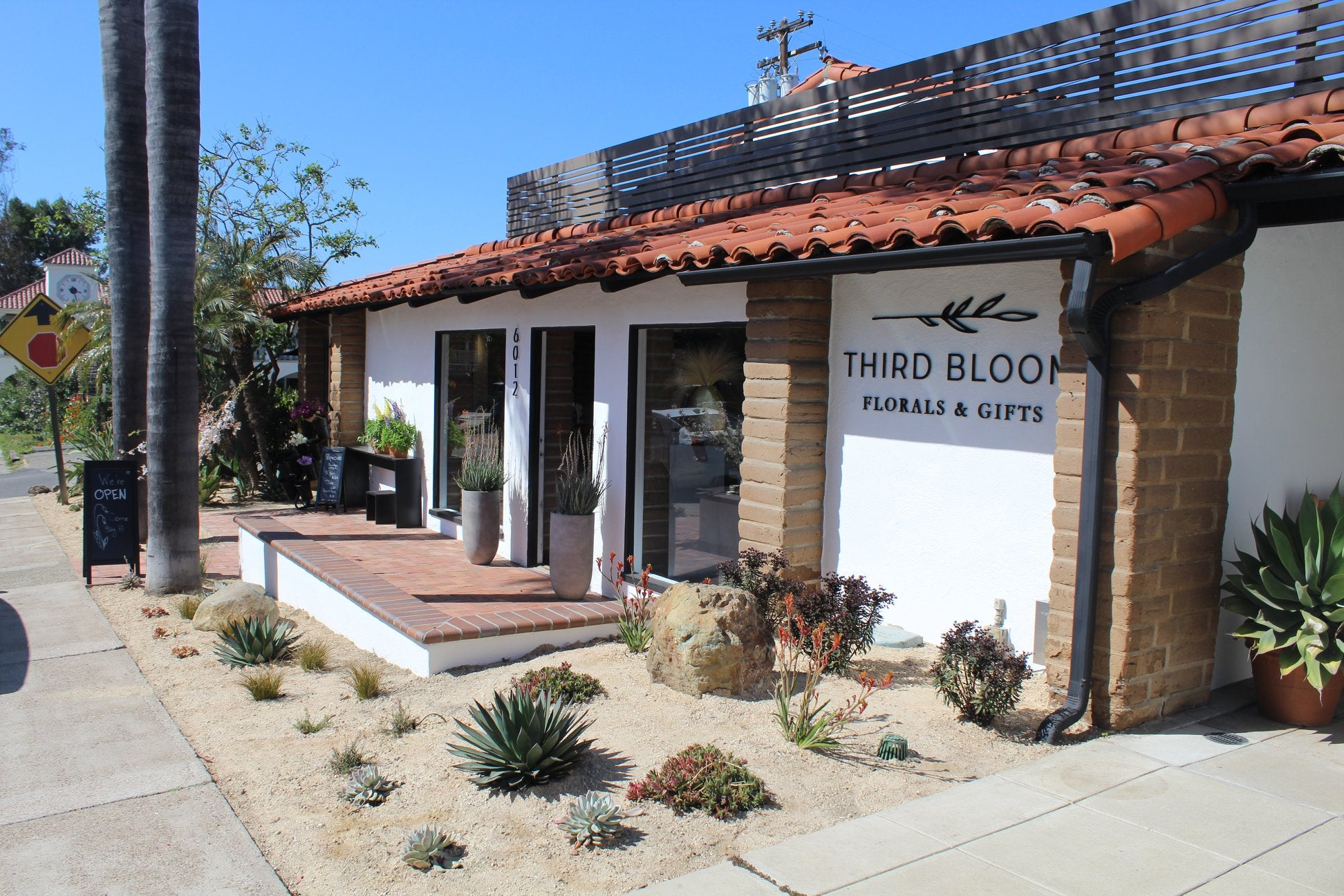 Exterior renovation done to Rancho Santa Fe Flowers and Gifts old shop now Third Bloom