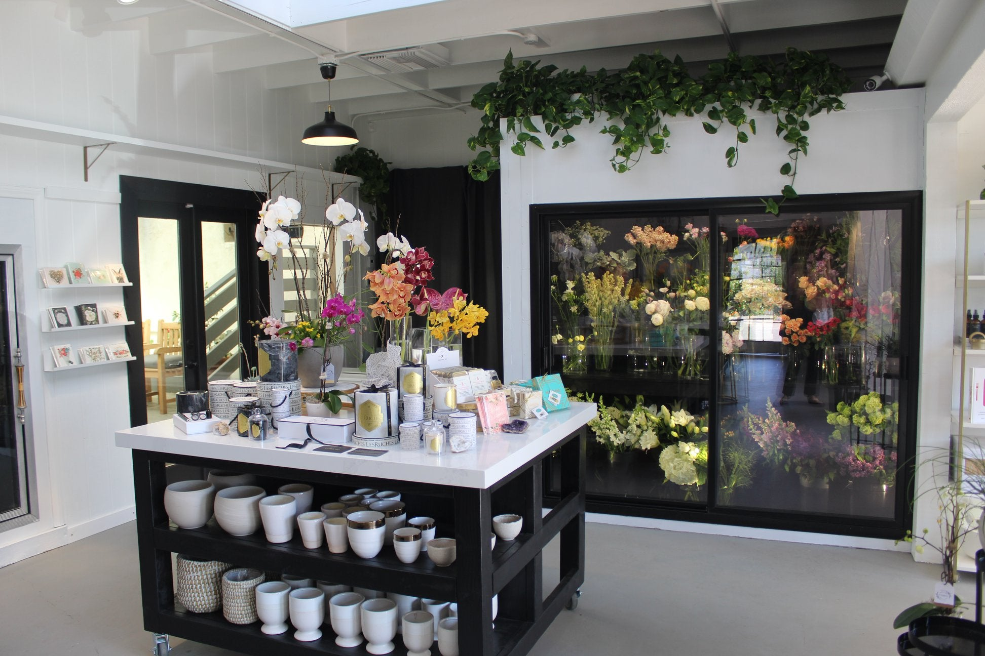 Interior of Rancho Santa Fe Flower Shop Third Bloom