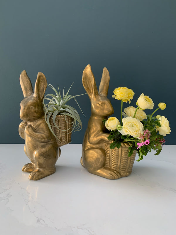 Brass Easter Bunnies