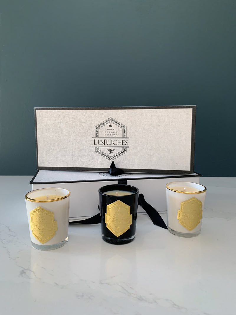 Les Ruches Organic Beeswax Candle Set