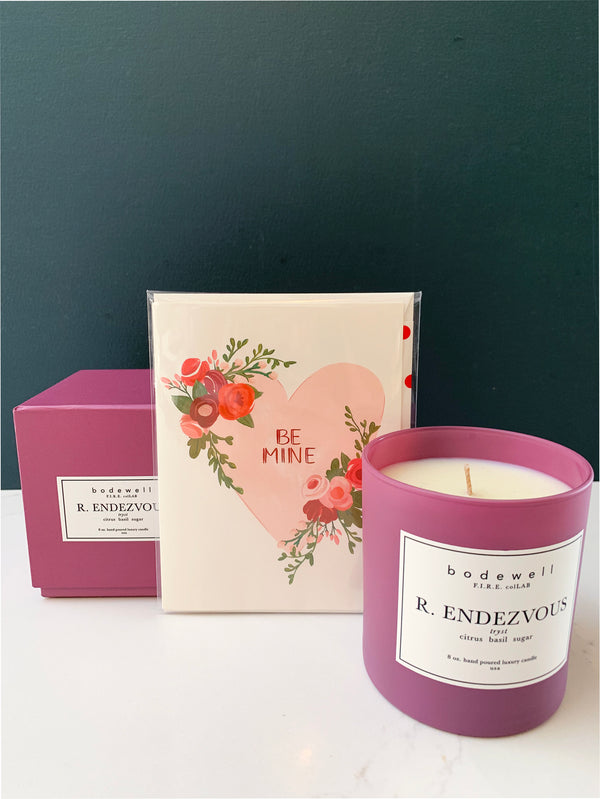 Valentine's Day Card & Candle (Add-on)