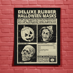 Three Halloween Masks