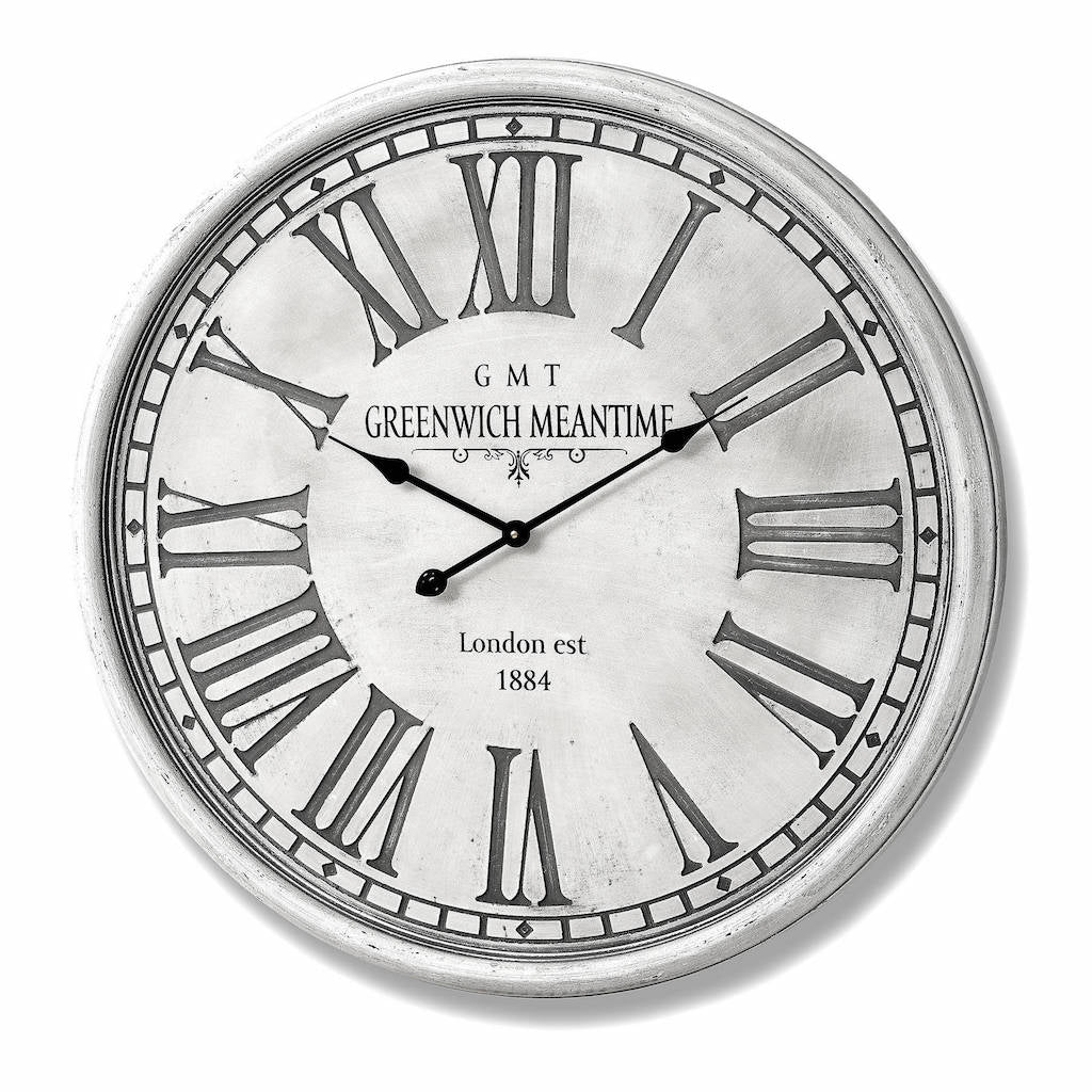 Greenwich Wall Clock Antique White