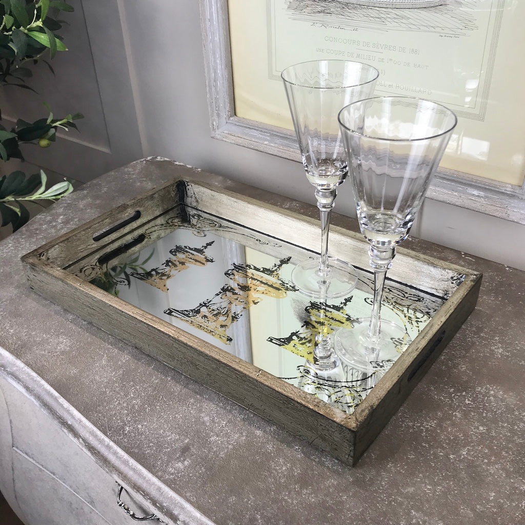 Illusion Mirrored Trophy Tray