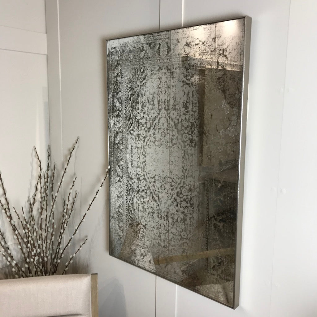 Large Foxed Antiqued Mirror