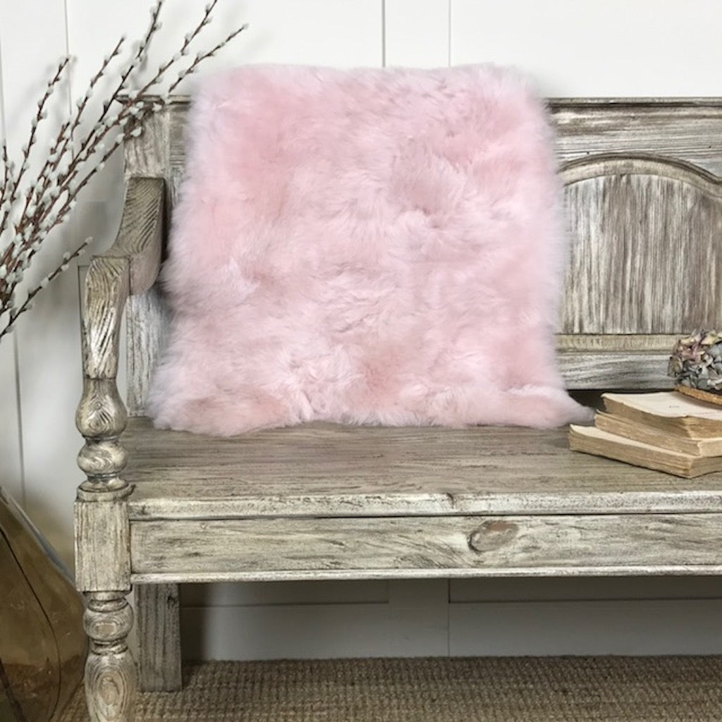 Finest Icelandic Short Wool Sheepskin Pale Pink