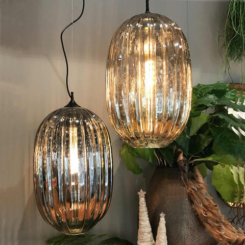 Glass Hanging Pendant Lamp Clear or Smoke
