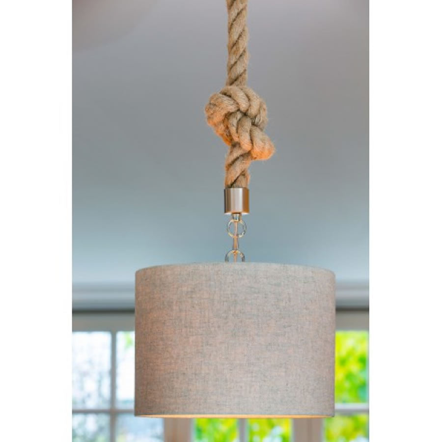Rope Pendant Light Fitting with Ceiling Rose