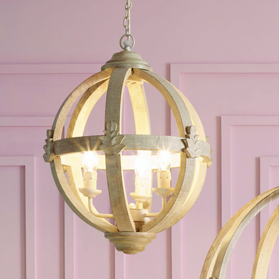 Medium round wooden orb chandelier cowshed interiors medium round wooden orb chandelier arubaitofo Image collections