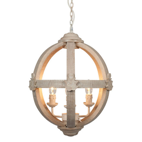 Medium round wooden orb chandelier cowshed interiors medium round wooden orb chandelier mozeypictures Images