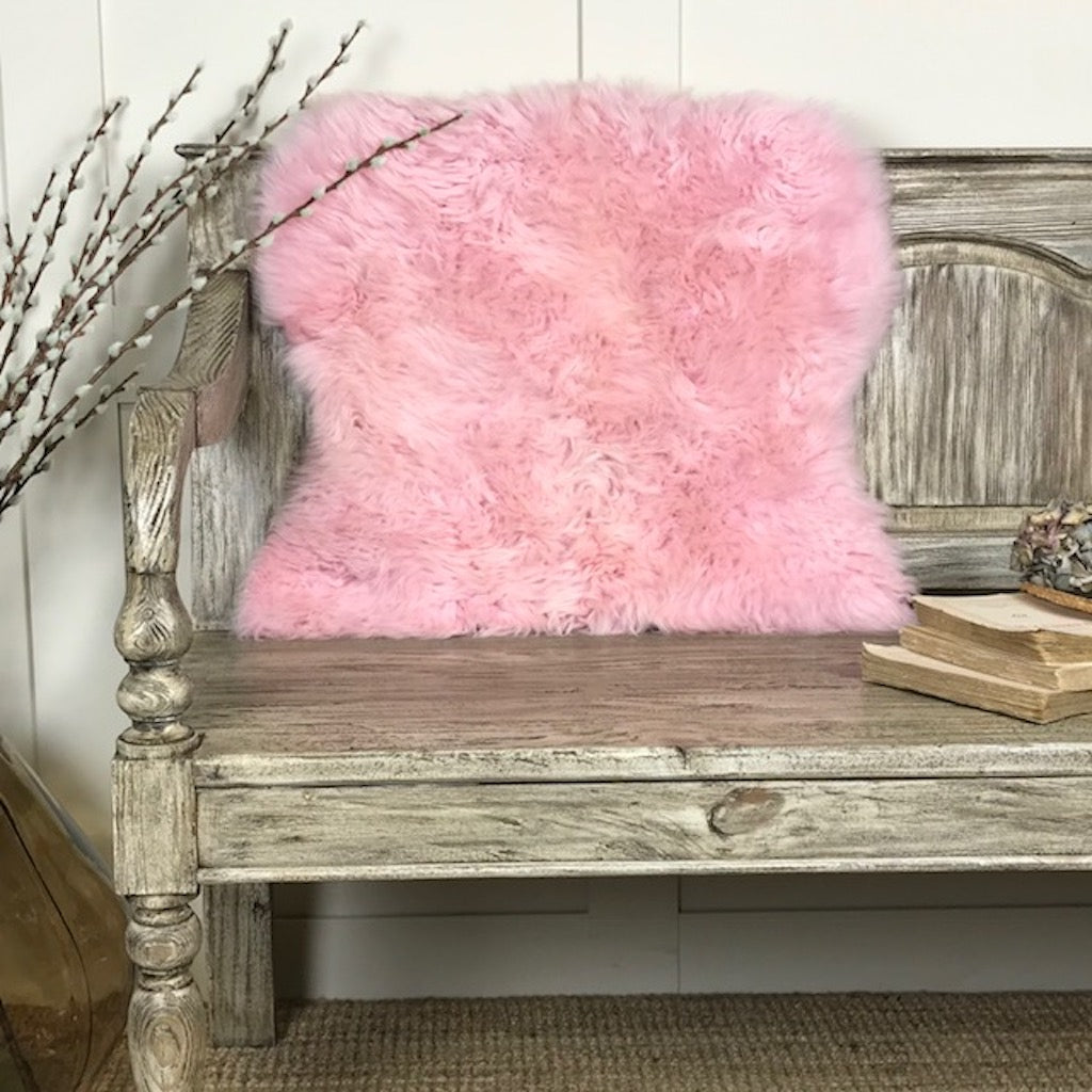 Luxury Shock Pink Sheepskin Rugs