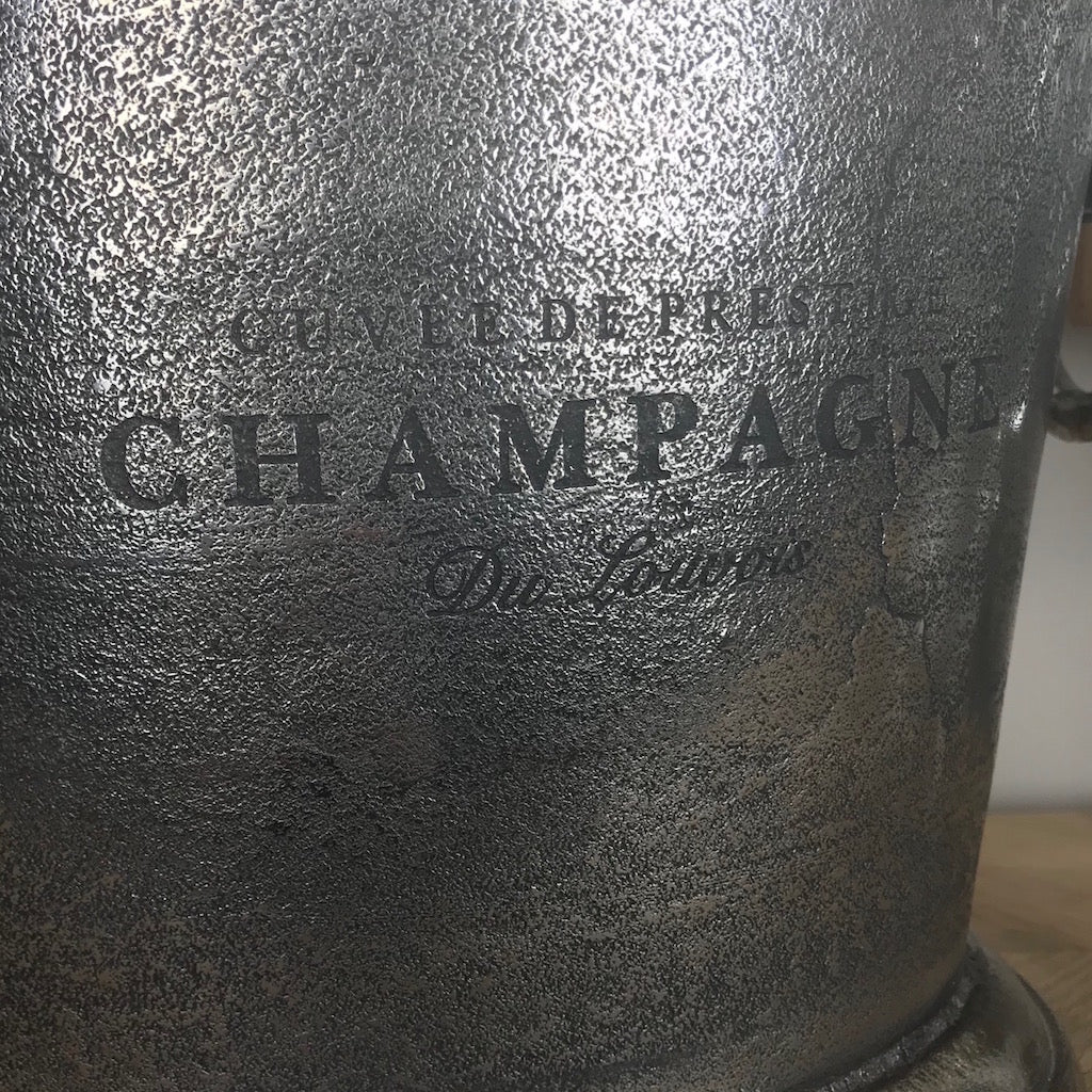 Champagne Cooler Raw Antique Nickel