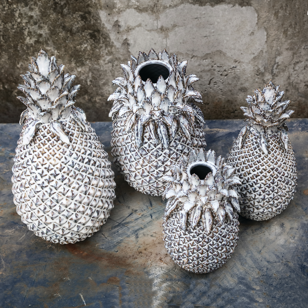 Ornate Pineapple Vases and Ornaments