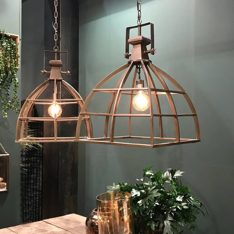 Industrial Style Brass Hanging Pendant Lamp