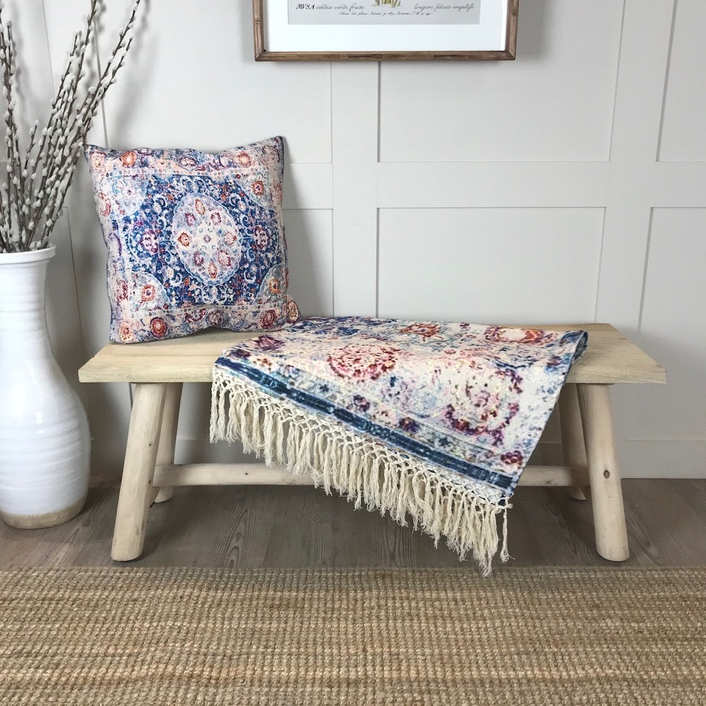 Vintage Style Throw and Cushion