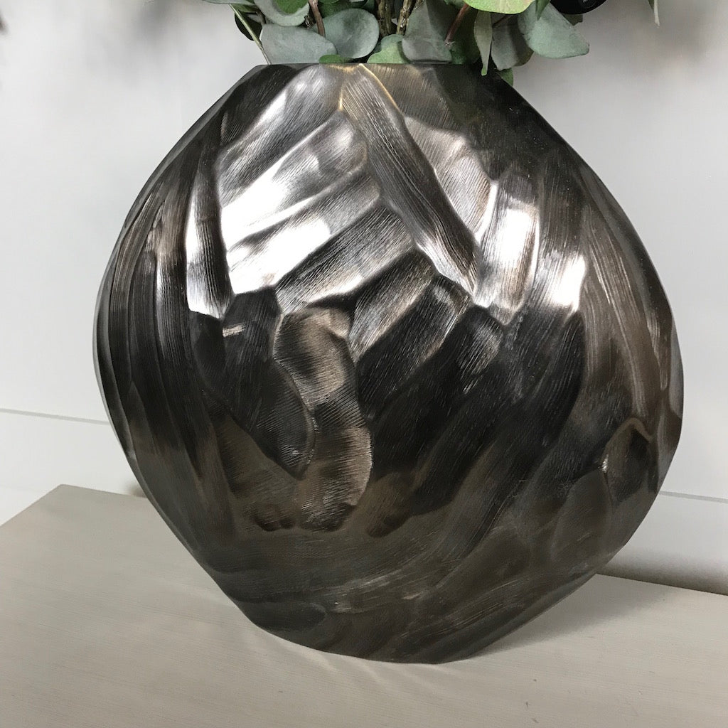 Bronze Textured 'Olwen' Vase by Parlane