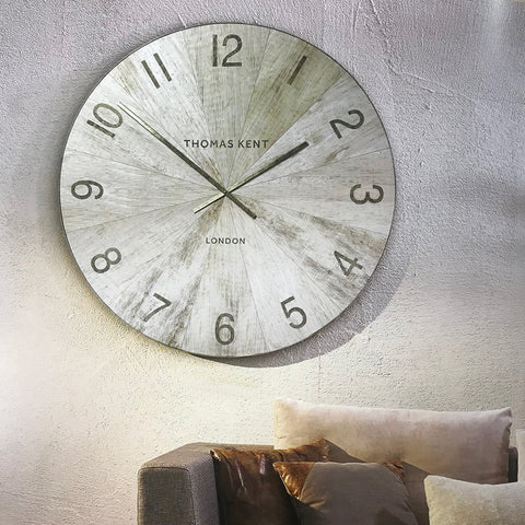 Thomas Kent Wharf Pickled Oak Wall Clock 2 sizes