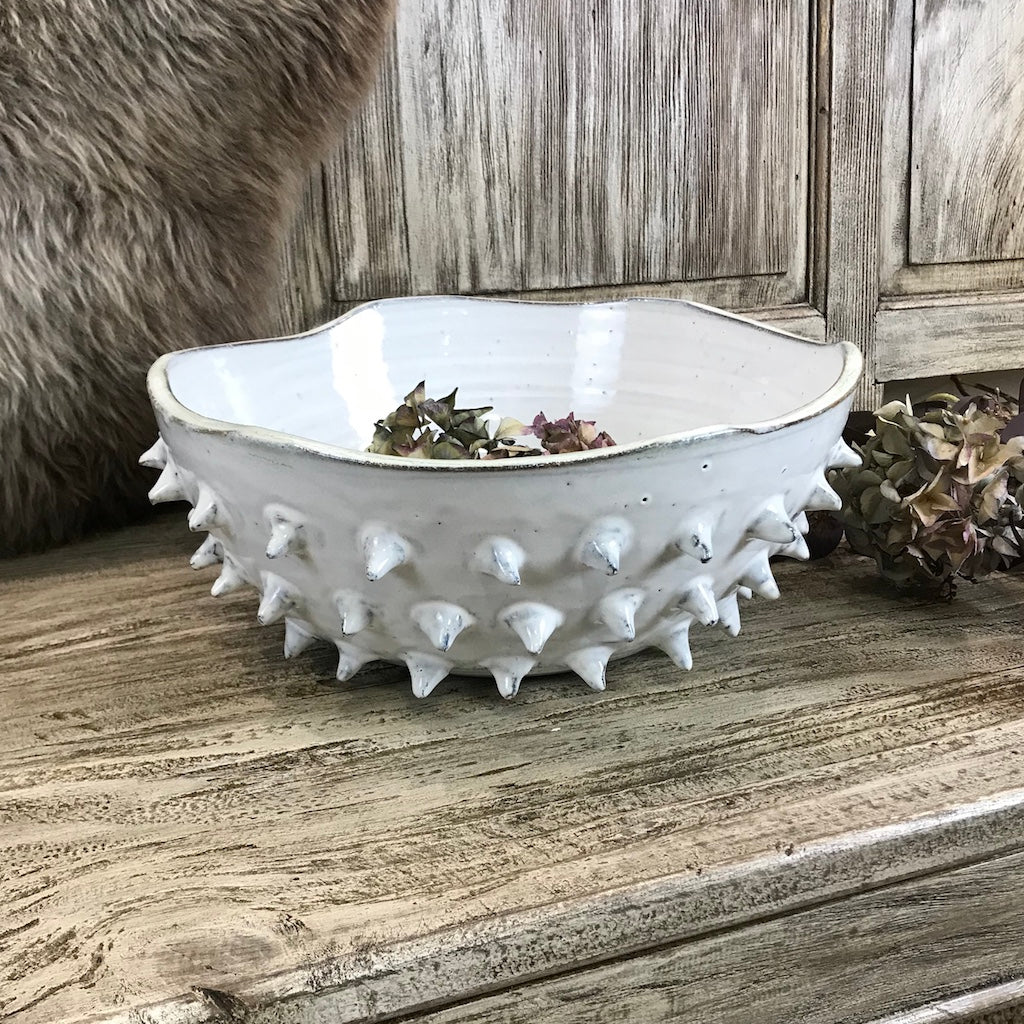 Spiked Wave Ceramic Bowl