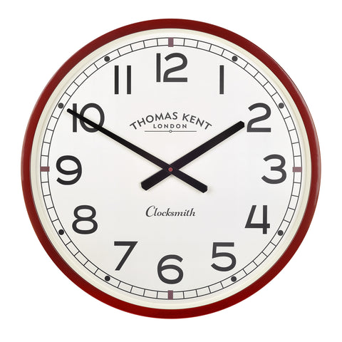 The Clocksmith Clock Red Simple British Design