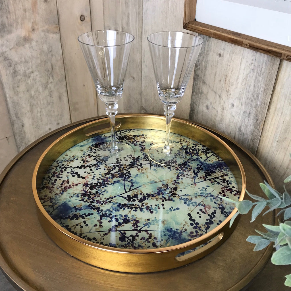 Round Berry and Blossom Tray