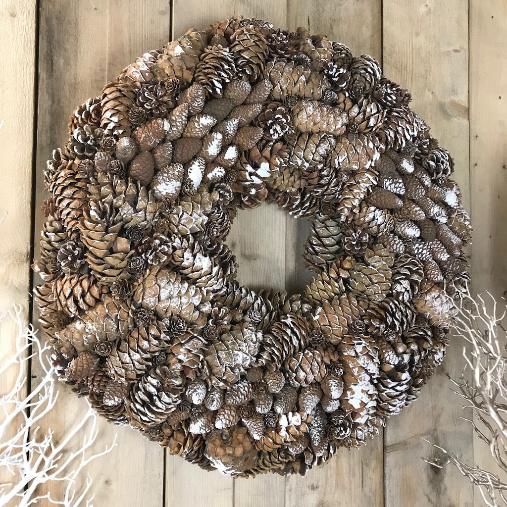 Oversized Natural Pinecone Wreath