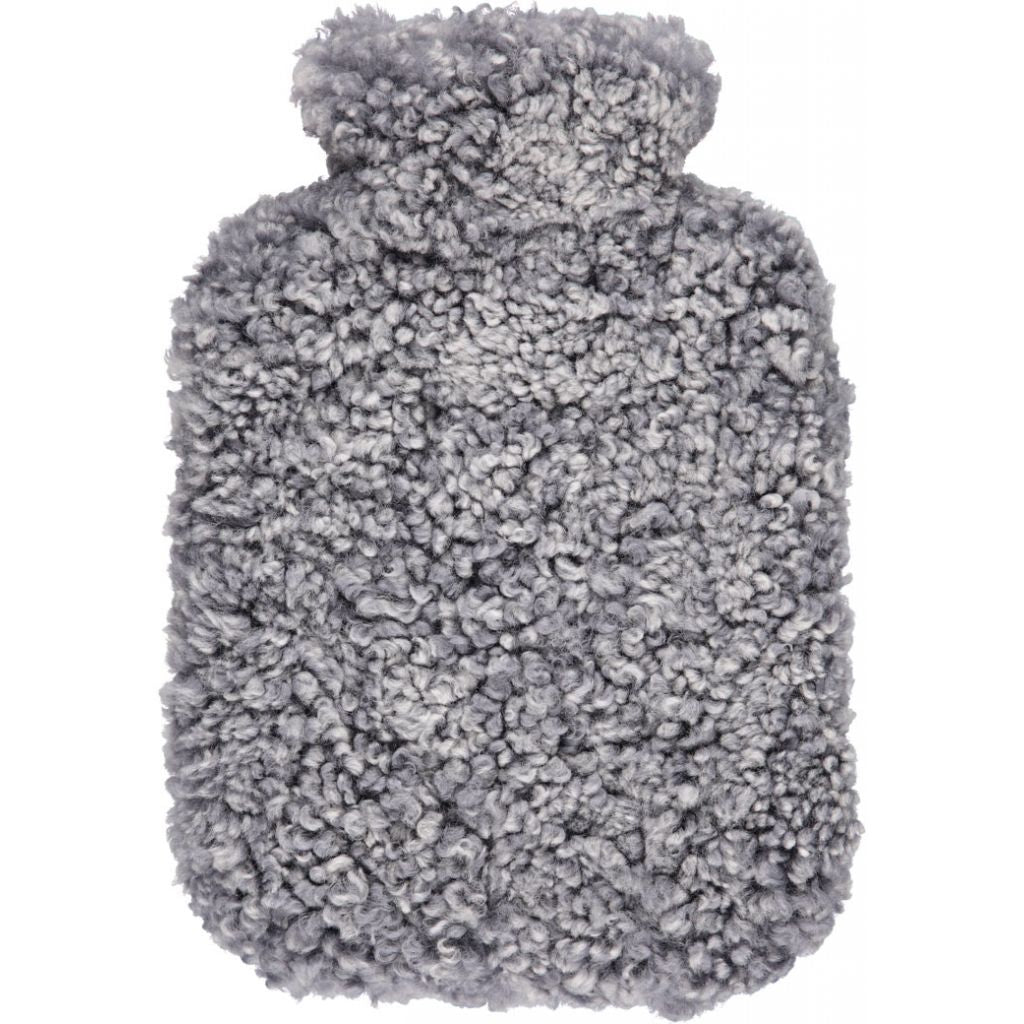 New Zealand Sheepskin Hot Water Bottle Light Grey